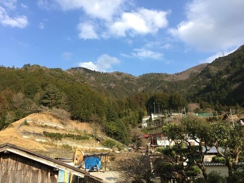 アンショウ山の稜線を振り返る(武蔵集落から).jpg
