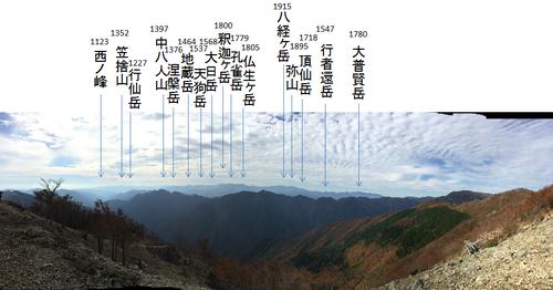 コブシ嶺から見えた大峰の山々.jpg