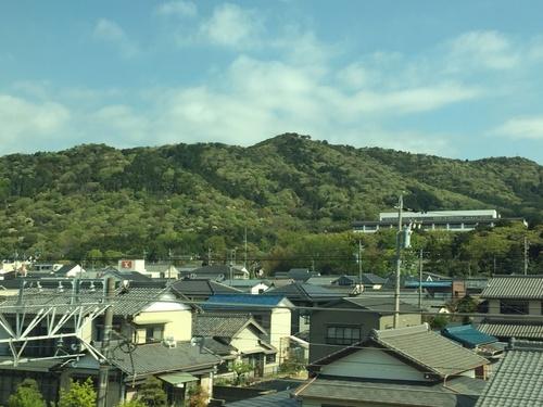 ヤマザクラの季節もそろそろ終わり(新幹線の車窓から).JPG