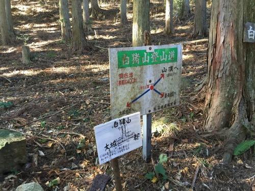 大城集落からの道との合流点の導標(ここからいよいよ山道).jpg
