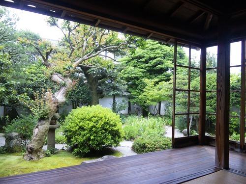 旧小泉八雲邸の庭(南側).JPG