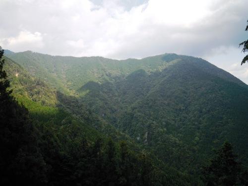 熊谷の頭から蛇崩山にかけての尾根道を望む.jpg