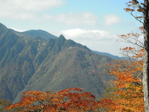 行者還岳方面から見た鉄山(2012年秋).JPG